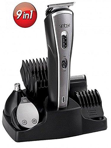 9in1 Haarschneider | Bartschneider | Haarschneidemaschine | Trimmer | Langhaarschneider | Nasenhaartrimmer | Nasen-Ohren-Augenbrauen Schneider | Konturen Trimmer| ALL IN 1 PFLEGESET (9in1 Trimmer Set)