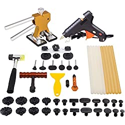 Mookis Paintless Auto Dellen Repair PDR ausbeulwerkzeug Puller Kits 41pcs mit Kleber Heißklebepistole Brückenspuller Gummihammer und Beule Lifter usw.