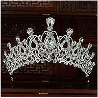 FOUGNOGKISSS Novia Crystal Crown Tocado Rhinestone Horquilla Chica Hairband