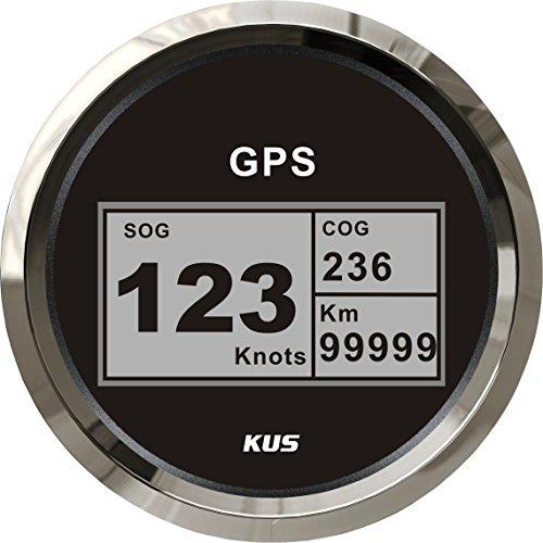 Kus Digitaler GPS-Geschwindigkeitsmesser, 0–999km/h, für Auto, LKW, Motorrad, 85mm