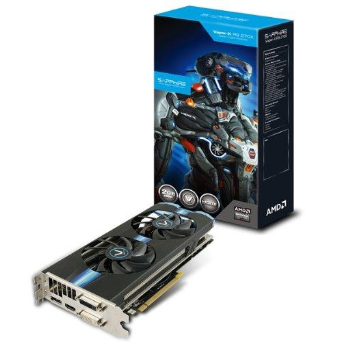 Sapphire 11217-00-20G Vapor-X Radeon R9 ATI Grafikkarte (PCI-e 3.0, 2GB GDDR5-Speicher, 2X DVI, HDMI, DisplayPort, 1100MHz GPU) (Amd-grafikkarte R9 270)