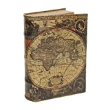 Hohles Buch Geheimfach Buchsafe Atlas Antik-Stil 27cm