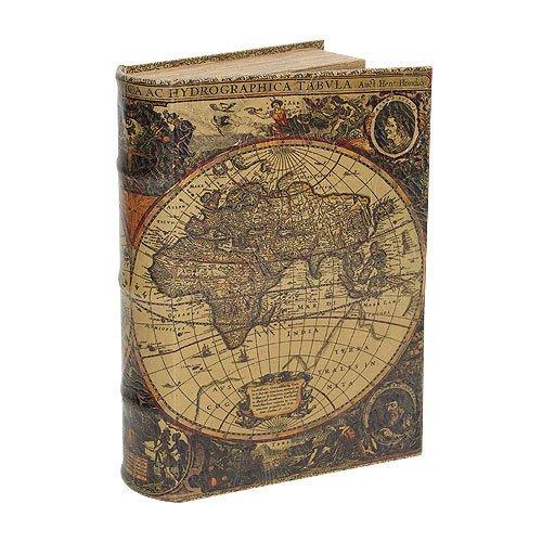 Hohles Buch mit Geheimfach Buchversteck Atlas Antik-Stil 21cm