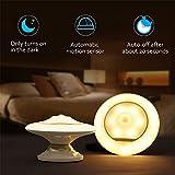 LED Nachtlicht Bovon mit Bewegungsmelder 360°Drehbarer LED Sensorleuchte, Abnehmbar& Magnetische&Tragbar USB aufladbar Baby Nachtleuchte für Kinder Flur Treppen Küche Schlafzimmer und Bad (Warmweiß)