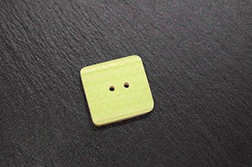 Helle Knöpfe (Keramik-Designer-Knopf in hell-grün 24x24 mm als Zubehör zum Stricken Nähen Basteln Handarbeit)