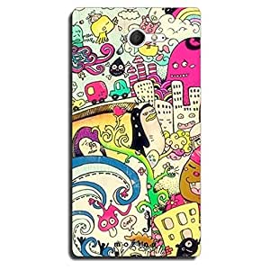 Mozine City Life printed mobile back cover for Sony xperia m2