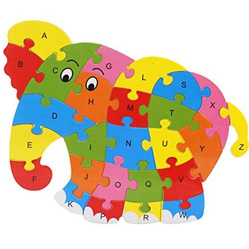 Meaningful Mode Holz Tier Alphabet Buchstaben Puzzle Kinder pädagogisches Entwicklungsspielzeug