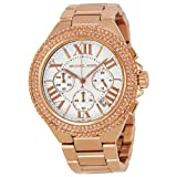 Michael Kors MK5636W Women's Chronograph Camille Rose Gold-Tone Stainless Steel Bracelet Watch …