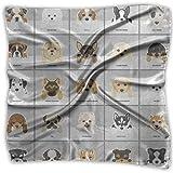 Xukmefat Cravatta quadrata del collo del cucciolo del cucciolo del bassotto del cucciolo del Pug del cucciolo divertente sveglio del cane per gli adulti