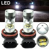 hrph 2pcs 9005/9006/H11 4300K 100W Auto Voiture 2323 Ampoules LED Automobile Phare Feux Lumière Brouillard...