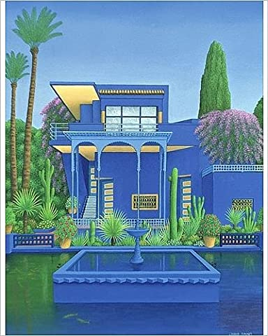 Photographic Print of Majorelle Gardens, Marrakech, 1996 (carylic on linen) (see 186509)