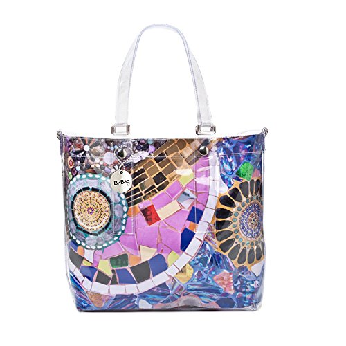 "BI-BAG borsa donna modello EASY ""SUMMER COLLECTION"" + pochette Multicolore Con Gemme"
