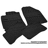 AME Auto-Gummimatten Fußmatten, Geruch-vermindert, Passgenau und mit Anti-Rutch-Oberfläche 0722et