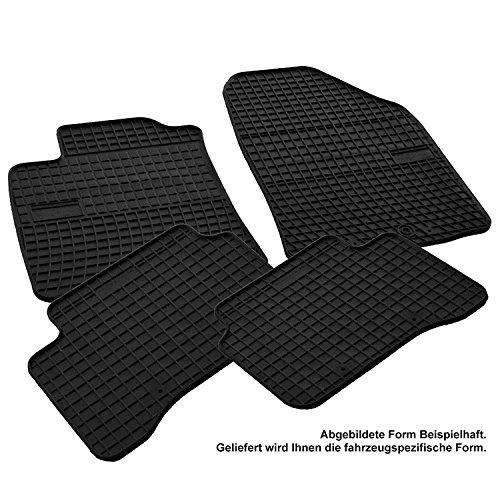AME Prime - Auto-Gummimatten Fußmatten mit Schmutzrand, Anti-Rutsch-Oberfläche, Geruch-vermindert und passgenau F0392