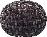 Kare Hocker Ovillo Dunkelgrau, 82808, Kleiner runder Sitzhocker, gemütlicher Pouf in Samtoptik (HxBxT) 41 x 58 x 58 cm, Bezug: 100% Polyester