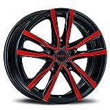 MAK MILANO CERCHI IN LEGA BLACK AND RED 6.5x16 5X110