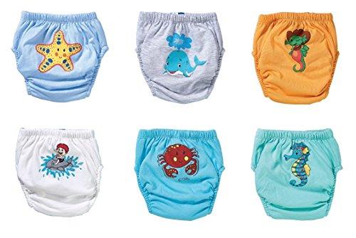OZYOL OZYOL Unterwassertiere 6er Pack Wasserdicht Baby Lernwindel Trainerhosen Unterwäsche Windeln Windelhose zum Toilettentraining Töpfchentraining (Set, 80)