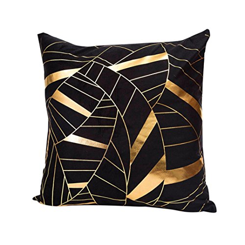 Goldfolie Drucken Kissenbezug, ZIYOU Weich Zierkissen Sitzkissen Kissenhülle Home Sofa Decor (A)