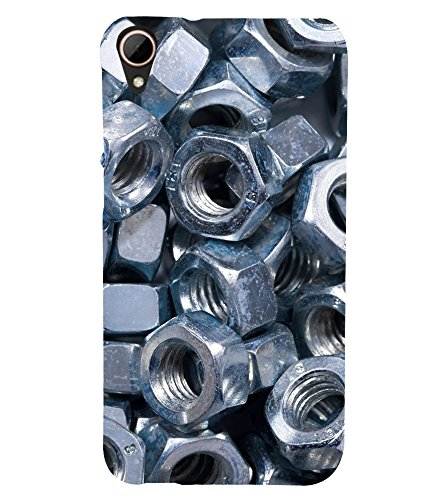 printtech Metal Nuts Screws Back Case Cover for HTC Desire 828 dual sim