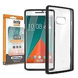 Orzly FUSION Bumper Case für HTC 10 SmartPhone / Handy (2016 Modell) - Schutz Hard Cover mit stoßabsorbierenden Gummi SCHWARZ Rim und Voll Transparente Rückseite