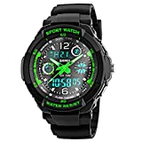 Digital Watch for Kids Boys, 50M Waterproof Outdoor Sports Running Analogue Watch with Alarm/Timer/Dual Time Zone/EL Backlight, Electronic Wrist Watches for Junior Teenagers