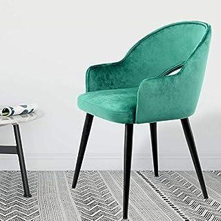 Pharao24 Samt Stühle in Grün Metallgestell in Schwarz