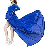 TrivingTech Sexy Schwangerschafts Kleid, Chiffon Fotografie Rock, Mutterschaft Foto Shoot Kleidung (Long Sleeve Blau 2)