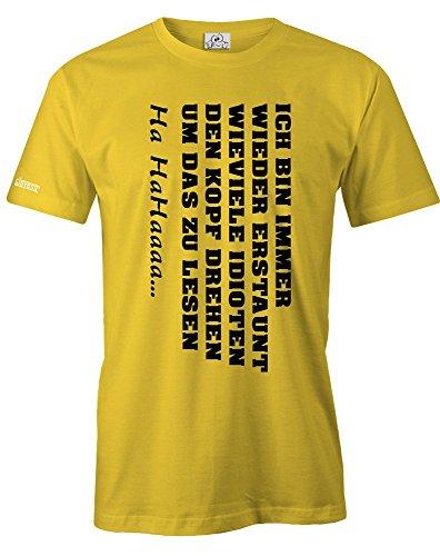 ICH BIN IMMER WIEDER ERSTAUNT... - HERREN - T-SHIRT in Gelb by Jayess Gr. XL (Gelbe Wieder T-shirt)