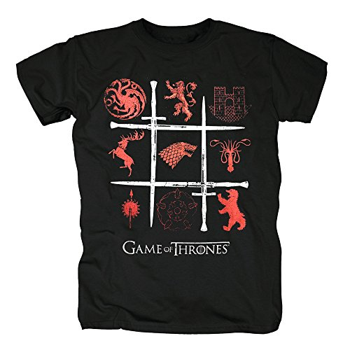 Stadt Kostüme Katze Halloween Party (TSP Games of Thrones - Sigils Swords T-Shirt Herren XL)