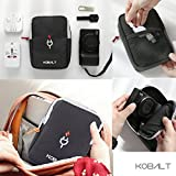kobalt Electronic Accessories Storage Charge Pouch Bag Multi function Smartphone Charger Headset Data Cable Organizer for Travel