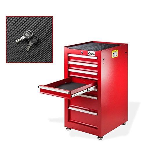 Schubladenschrank Nico 7 Schubladen rot Werkzeugschrank Werkstattschrank