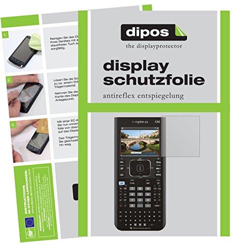 Texas Instruments TI Nspire CX Taschenrechner Schutzfolie - 2x dipos Displayschutzfolie Folie matt