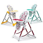 Baby Vivo Baby Highchair Feeding Seat Adjustable Height Double Tray Recline Foldable Tippy - Different Colors Available