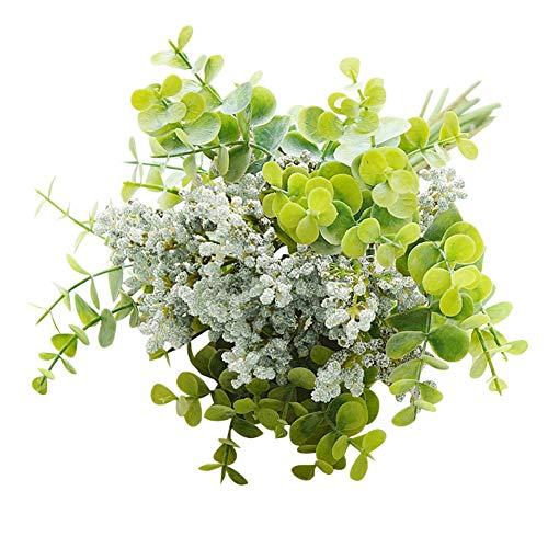 0Miaxudh Künstliche Pflanze, 1Bouquet Künstliche Vanille Frucht Eukalyptus Blätter Hochzeit Home Art Decor White