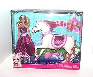 barbie puppe mit pferd v7347 spielzeug. Black Bedroom Furniture Sets. Home Design Ideas