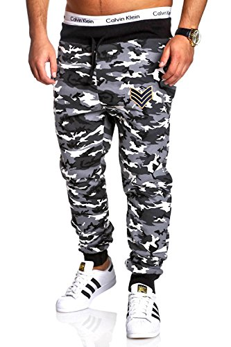 MT Styles Pantaloni sportivi tuta Camouflage uomo R-655 [grigio, XL]