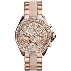 Michael Kors Reloj Cronógrafo para Mujer de Cuarzo con Correa en Acero Inoxidable MK6096