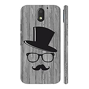 Enthopia Designer Hardshell Case Movember Man 2 Back Cover for Motorola Moto E3 Power