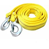 da cheng Car Tow Rope Straps with Hooks--5 Tons 4 Meters(13.12ft)with Vehicle Storage Bag High Strength Emergency Towing Rope Cable Cord Heavy Duty Recovery Securing Accessories for Cars Trucks
