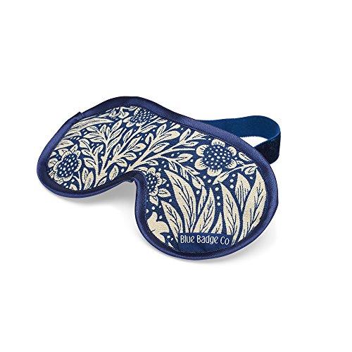 Blue Badge CO Entspannende Weizen gefüllt William Morris Ringelblume Indigo Lavendel Augenmaske