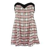Motel BETSY DRESS pink tartan L