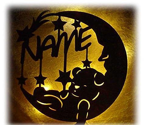 Schlummerlicht24 Led Lampe personalisiert Baby-Geschenk Sweet Dream Tauf-Geschenke zur Geburt Kommunion Taufe mit Name-n