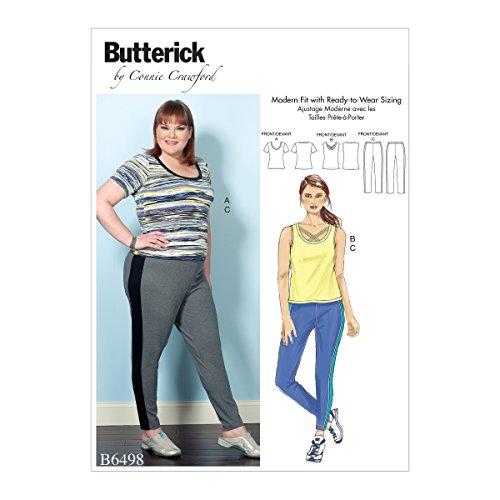 Crawford Muster (Butterick Patterns 6498Frau Misses/Damen Top und Hosen Schnittmuster, Mehrfarbig, Größen 2X Große-6x große)