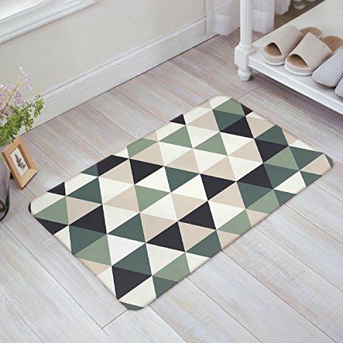 Libaoge Retro Geometrisches Dreieck-Muster Fußmatte Welcome Mat Eingangsmatte Fußmatte Fußmatte Fußmatte Badematte, Textil, Multi, 23.6x15.7