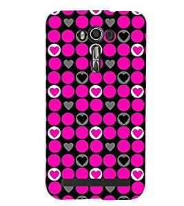 Printvisa Premium Back Cover Pink Circular And Heart Pattern Design For Asus Zenfone 2 Laser ZE500KL::Asus Zenfone 2 Laser ZE500KL (5 Inches)