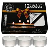 #8: Nanki Trades Wax Tea Light Candle (White, Set of 12, 11 Hours Burn Time)