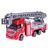 #4: Chinatera Toy Simulation Mini Ladder Fire Engine Truck Model Freesize 1#