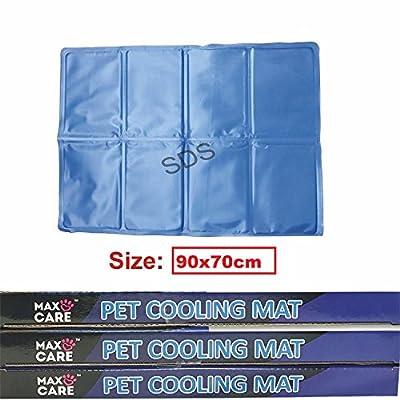 Pilot Imports® Self Cooling Gel Pet Dog Cat Cool Mat Pad Bed Mattress Heat Relief Non-Toxic 90 x 70cm Blue