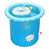 GLJYG XXSC Baby Swimming Pool \ Haushalt Kunststoff Neugeborenen Baby Kind Kind Schwimmen Eimer \ Falten Halterung Isolierung Bad Eimer (größe : 65*75cm)