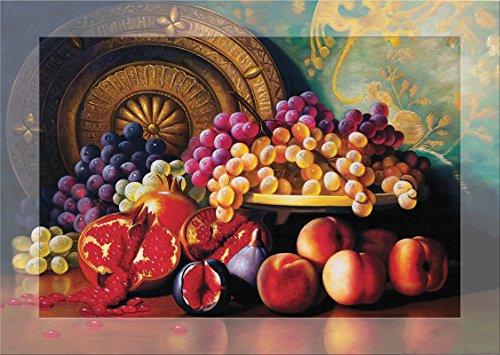 Heidi heidi4192Feigen, Granatäpfel und Messing Teller duftende Art Puzzle (1000Teile) -